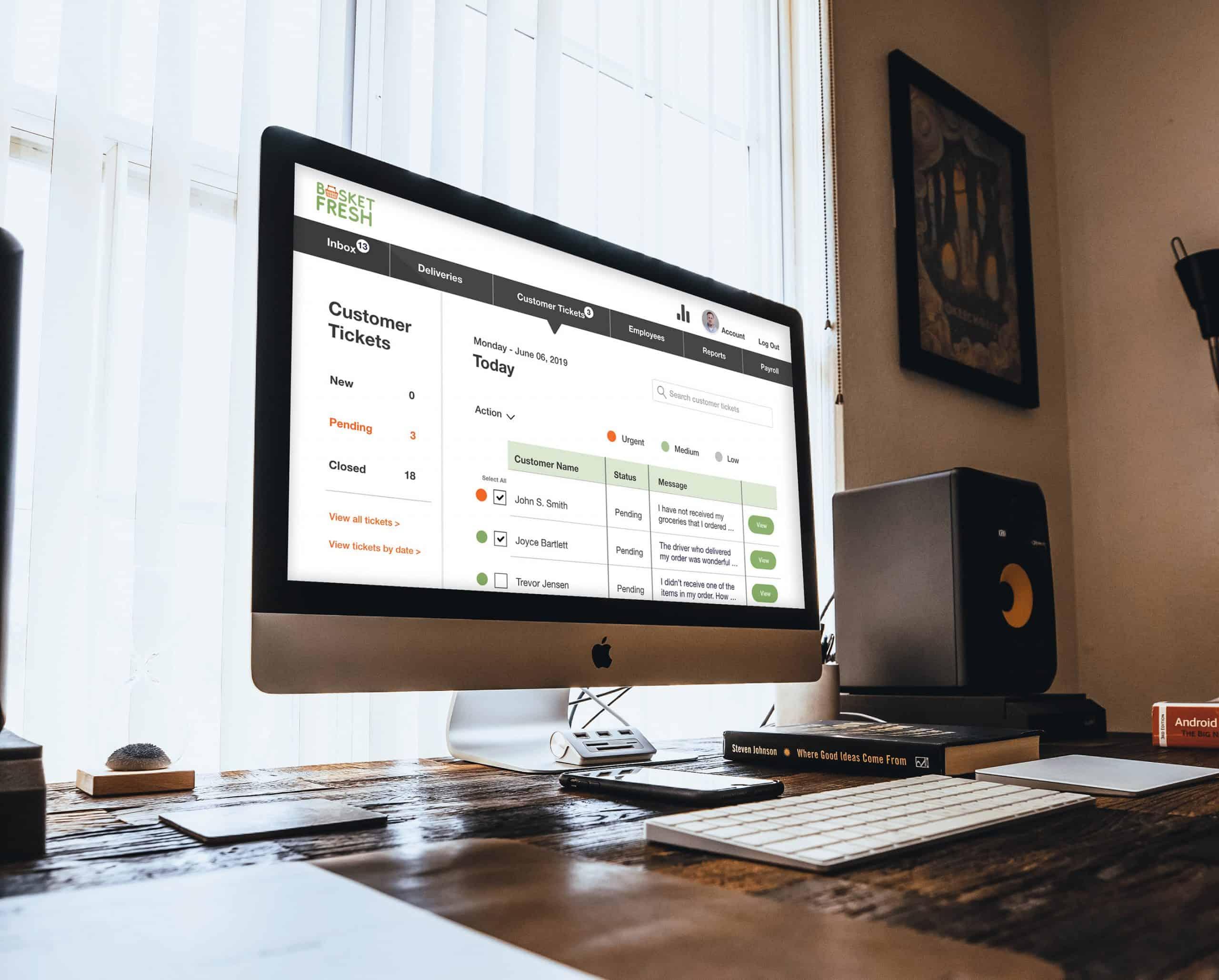 Basket Fresh Web Design Mockup