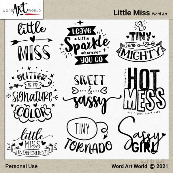 Little Miss Word Art