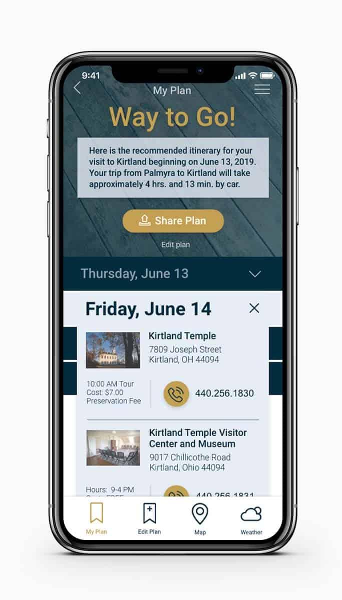 Historic Kirtland Confirmation Screen