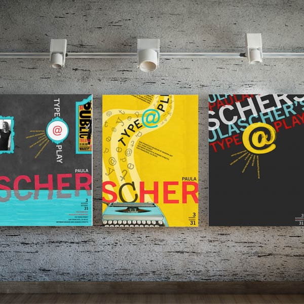 Paula Scher Poster Mockup