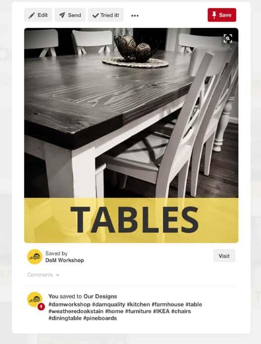 Pinterest Tables