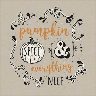 Pumpkin spice word art