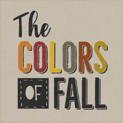 The Colors of Fall Word Art