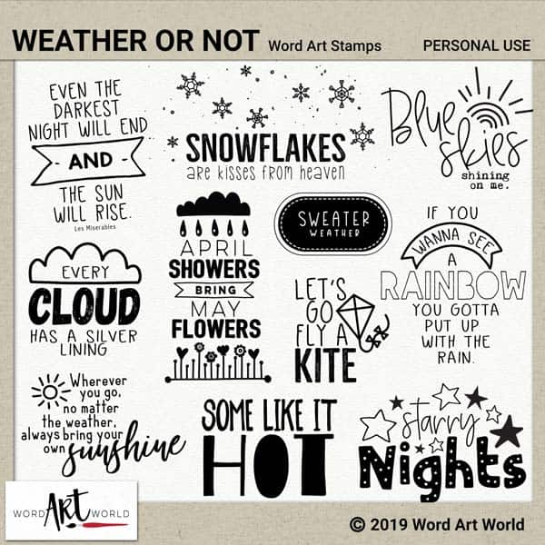 Weather or Not Word Art