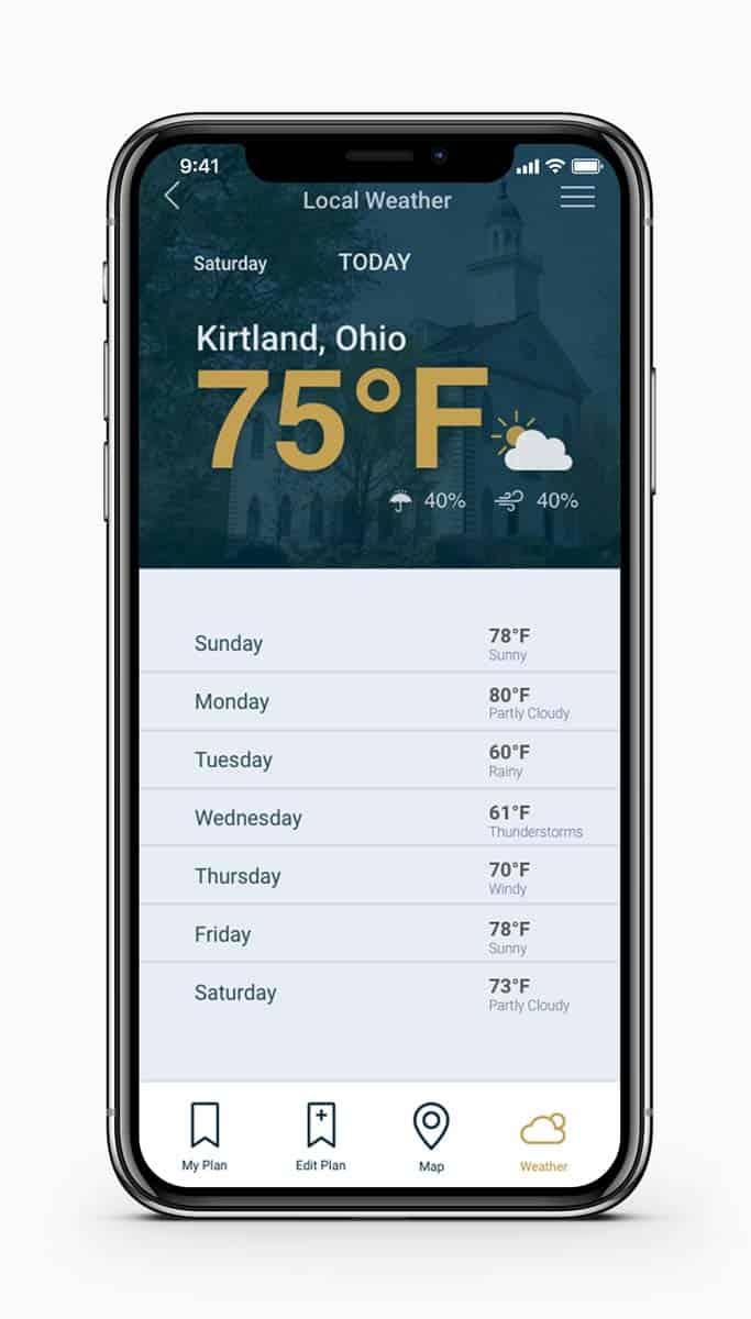 Historic Kirtland Weather