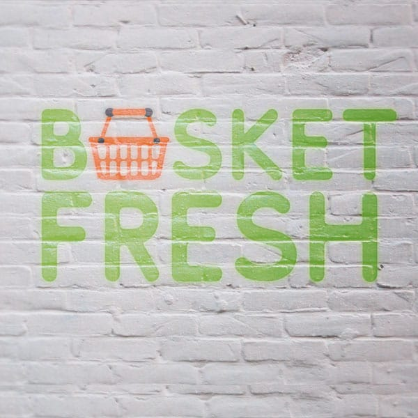 Basket Fresh Logo Mockup