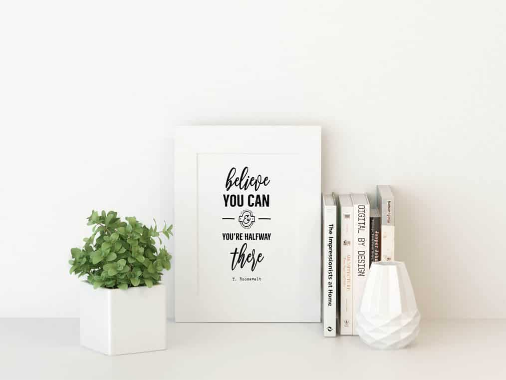Believe You Can Wall Art