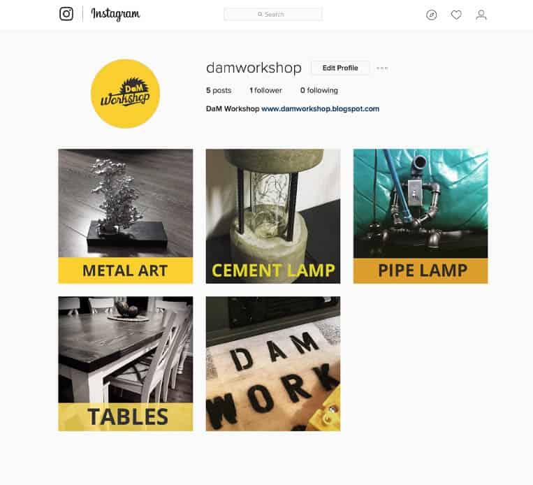 DAM Workshop Instagram