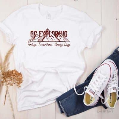 Go Exploring T-shirt Mockup