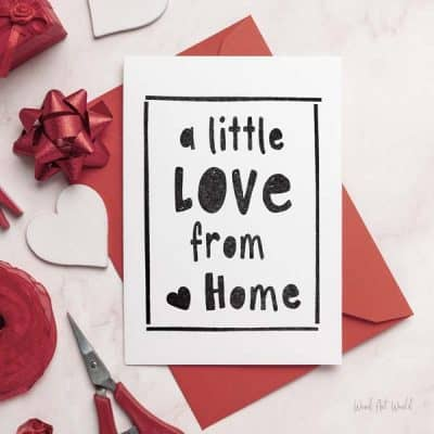 A little love from home card