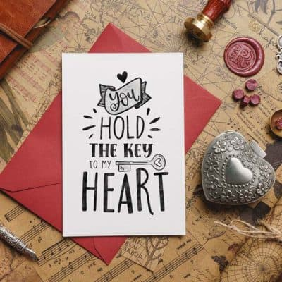 You hold my heart card