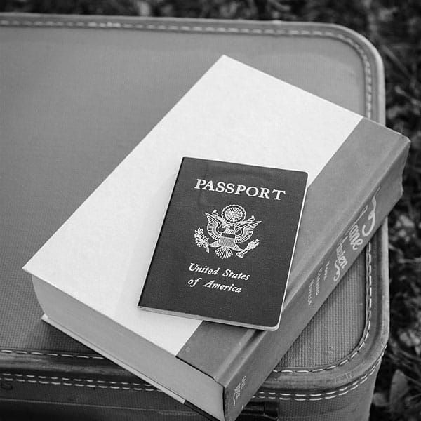 Passport and luggage